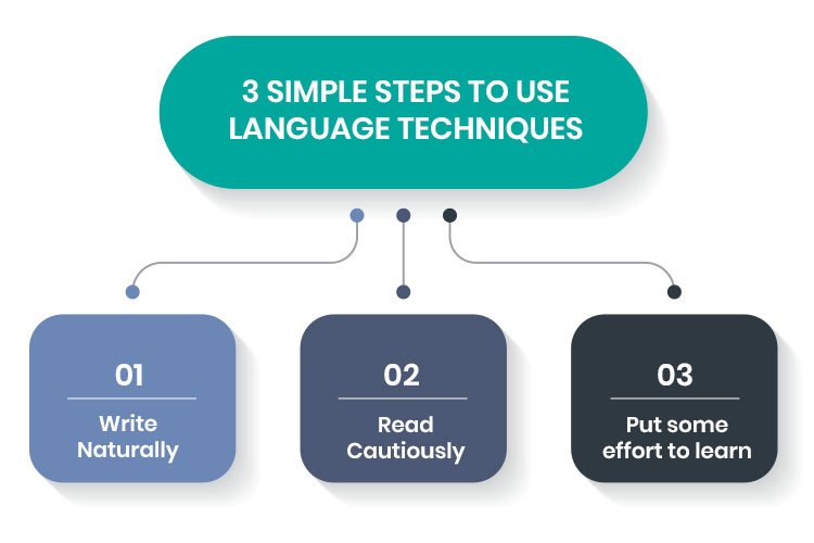 simple steps to use language techniques